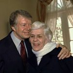 Jimmy Carter With His Mother Lillian Gordy Carter