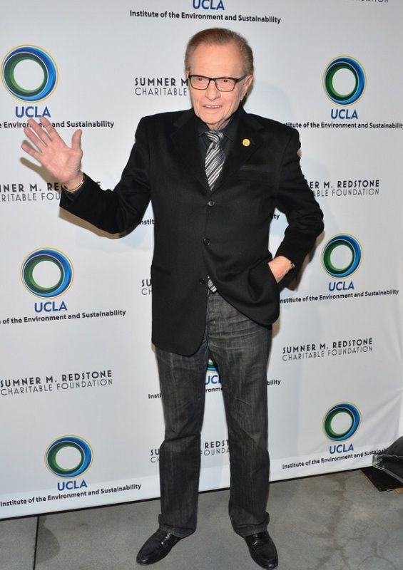 Larry King Posing