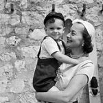 Olivia de Havilland With Her Son Benjamin Goodrich