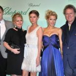 Paris Hilton with her parents and siblings (from left) brother Barron, mother Kathy, sister Nicholai, and father Richard