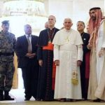 Pope Benedict XVI with Jorden's Prince Ghazi Bin Muhammad Bin Talal, visits the King Hussein Bin Talal mosque in Amman May 9, 2009