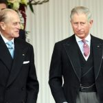 Prince Philip (Left) With His Son Prince Charles (Right)