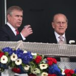 Prince Philip (Right) With His Son Prince Andrew (Left)