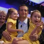 Ted Cruz With His Daughters Caroline And Catherine