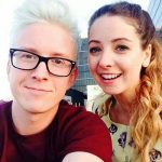 Tyler Oakley with Zoe Sugg