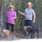 William H Macy With His Pet Dogs