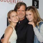 William H Macy With His Daughters Sofia And Georgia