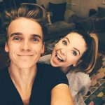 Zoella with her brother Joe Sugg