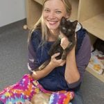 Amy Smart With Her Cats