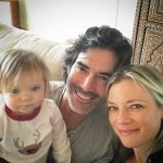 Amy Smart With Her Daughter And Husband
