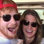 Ed Sheeran with his fiancee Cherry Seaborn