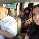 Huda with her father Ibrahim Kattan