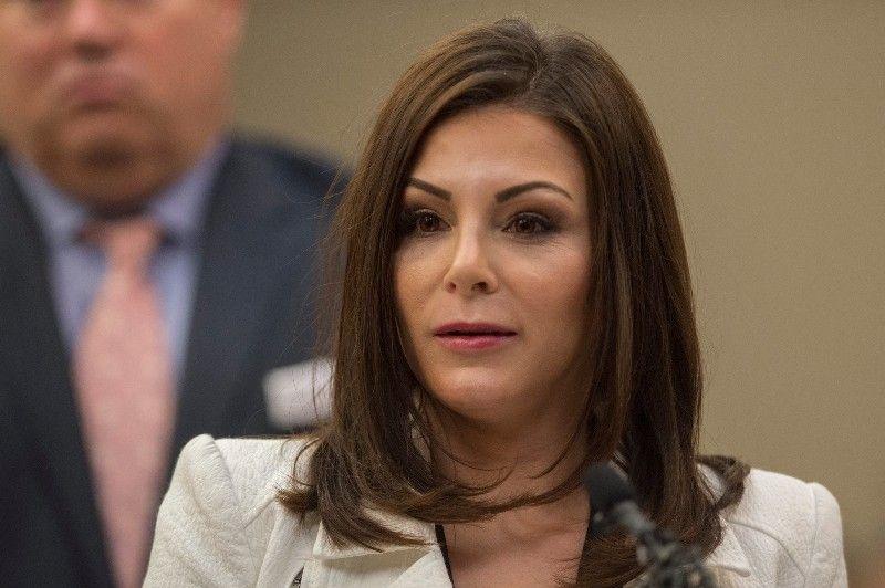 Jamie Dantzscher during her testimony against Larry Nassar