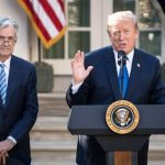 Jerome Powell With Donald Trump