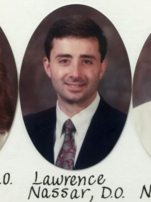 Larry Nassar's photo appears in the 1993 composite of the Michigan State University College of Osteopathic Medicine