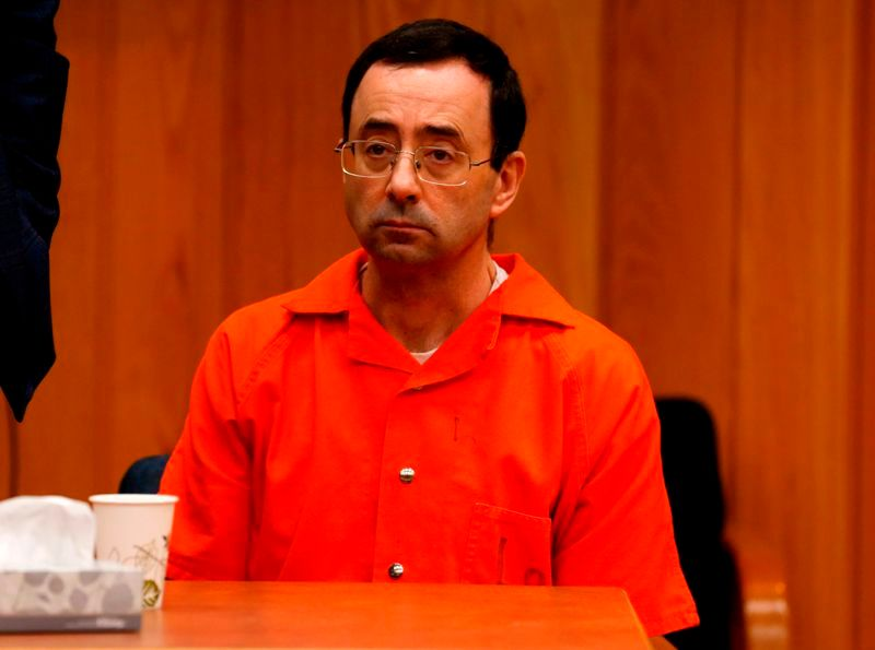 Larry Nassar after pleading guilty to seven sexual assault charges in November 2017 in Circuit Court