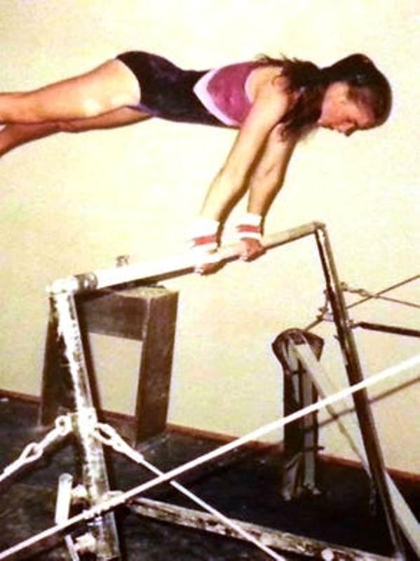 Rachael Denhollander as a teenage gymnast