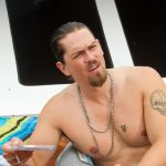 Steve Howey Showing His Tattoos