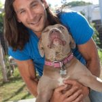 Zach McGowan With His Dog