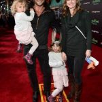 Zach McGowan With His Wife And Daughters