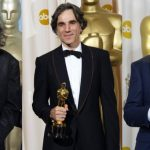 Daniel Day Lewis Click With His Three Oscar Awards