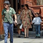 Daniel Day Lewis With His Wife And Children