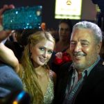 Fidel Castro Díaz-Balart With Paris Hilton At A Cigar Party In Havana