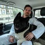 Henry Cavill with his dog Kal