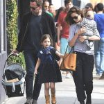 Michelle Monaghan with her husband and children