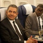 Rowan Atkinson and Daniel Kaluuya in Johnny English Reborn