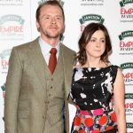 Simon Pegg and wife Maureen Pegg