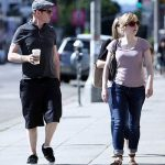 Simon Pegg with his sister Katy Pegg