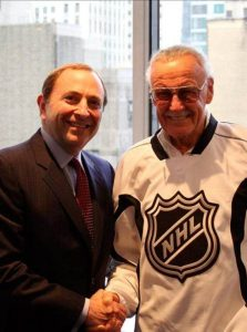 Stan Lee As A Partner Of NHL