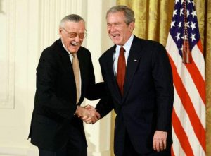Stan Lee Honored By George W Bush
