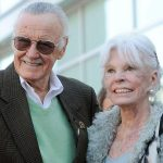 Stan Lee With His Wife Joan B. Lee