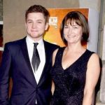 Taron Egerton with his mother