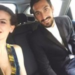 Davide Astori with his girlfriend Francesca Fioretti