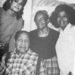 Katherine Jackson with her father, step-mother and Michael Jackson