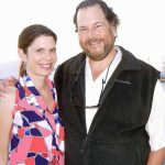 Marc Benioff with his wife