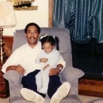 Candice Patton with her father