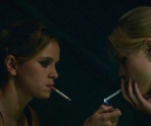 Danielle Panabaker smoking