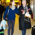 Emily Blunt with her father