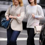 Emily Blunt with her mother