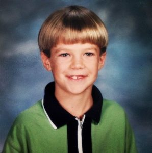 Grant Gustin in his childhood