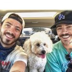 Grant Gustin with his brother Tyler Gustin