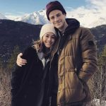 Grant Gustin with his girlfriend Andrea LA Thoma