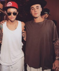 Ruby Rose with Justine Bieber