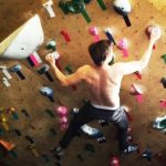 Ansel Elgort Doing Rock Climbing