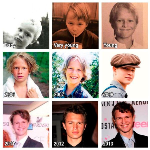 Ansel Elgort over the years