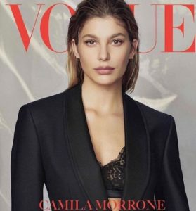 Camila Morrone on the cover page of Vogue